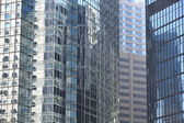 Offices and glass buildings in the city of life, low angle view in Hong Kong Central financial zone — Stockfoto