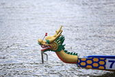 Chinese tradtional dragon boat head — Stock Photo
