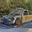 Foto Stock: Car burned