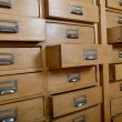 Stock Photo: Cabinet with wooden drawers