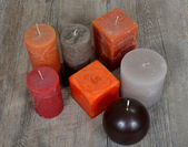 Several ornamental candles — Foto Stock