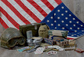 Material of the American Soldier of D-DAY — Stock Photo