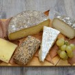 French cheese platter — Stock Photo
