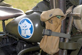 World war two military motorcycle — Stock Photo