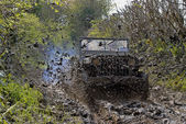World war two military vehicle run in mud — Stock Photo