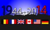 Anniversary of two world wars — ストックベクタ