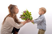 Baby celebrates Mother's Day — Stock Photo