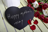 Writing happy mother's day  — Stock Photo
