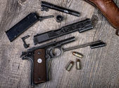 Disassembled weapon — Stock Photo