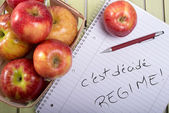 Resolutions - Diet with apples — Foto Stock
