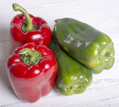 Pimentão vermelho e verde — Fotografia Stock