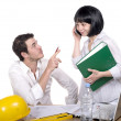 Man and woman at office with documents — Stock Photo #44508341