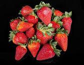 Pile of strawberries — Stock Photo