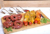 Assortment of meat for barbecue — Stock Photo