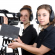 Two young women with  camera — Stock Photo #49418427