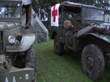 Camion militare ww2 — Video Stock