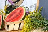 Slice of watermelon — Stock Photo