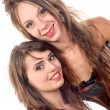 Two young women dressed in a corset — Stock Photo #51593829