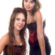 Two young women dressed in a corset — Stock Photo #51595353