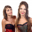 Two young women dressed in a corset — Stock Photo #51595599