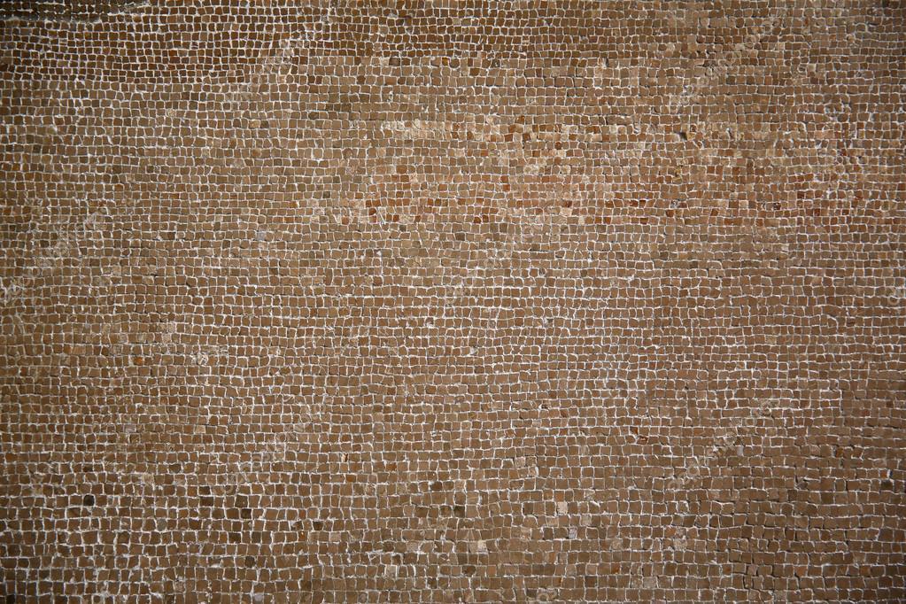 Trama di sfondo di mosaici romani marroni — foto stock © designf21 ...