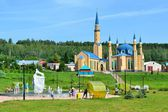 "Mosque ""Sincerity"" and the Park ""white leopard"" — Stock Photo"