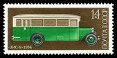 公交车珠钢 8 苏联城市 — 图库照片