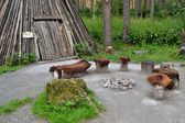 Lareira primitiva — Fotografia Stock
