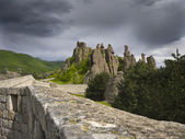 Bulgarian wonders-a beautiful view - phenomenon of Belogradchik rocks — Stock Photo