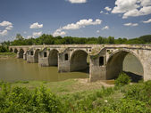 Byala Bridge is an arch bridge over the Yantra River in northern Bulgaria — Stock Photo