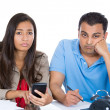 Couple, financial distress — Foto de Stock
