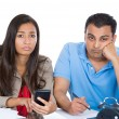 Couple, financial distress — Stockfoto