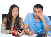 Couple, financial distress — Stock Photo