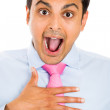 Closeup portrait of surprised businessman  — Stock Photo
