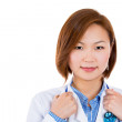 Portrait of a smiling female asian doctor — Stock Photo #30338085