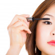 Mascara Applying. Makeup Closeup. — Stock Photo