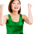 Winning success happy woman — Stock Photo
