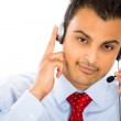 Stock Photo: A male customer service representative