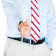 Business man showing thumb up — Stock Photo