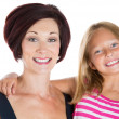 Mother and daughter smiling  — Foto de Stock