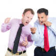 Boss and his manager having a fight — Stock Photo