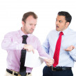 Stock Photo: Boss and his manager having a fight