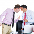 Boss having an argument with his employee — Stock Photo
