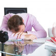 Sleepy businessman — Stock Photo