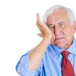 Old man wearing blue shirt — Stock Photo #30678543