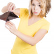 Stock Photo: Girl holding empty wallet