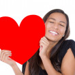 Woman holding a heart — Stock Photo #30679011