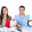 Successful couple planning for future financial success — Stock Photo #30679055