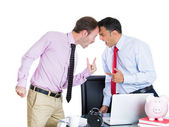 Boss having an argument with his employee — 图库照片