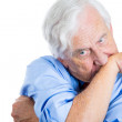 Handsome elderly man  stressed — Stockfoto